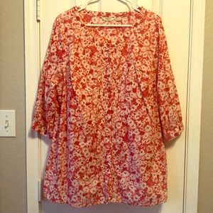 Liz Claiborne Button down Tunic - shades of Pink
